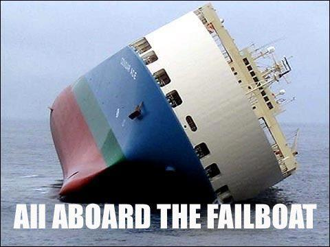 All aboard the failboat